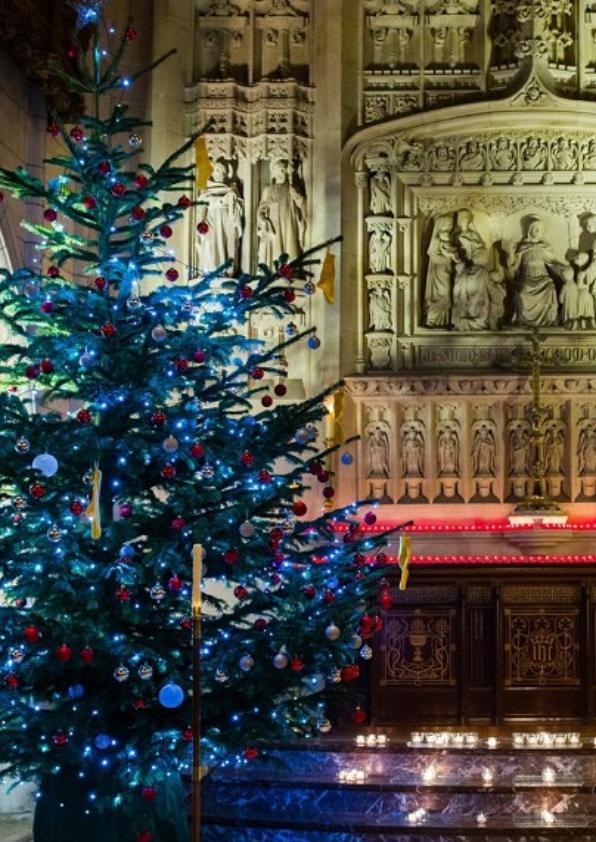 Christmas Tree in Christ's Hospital Chapel