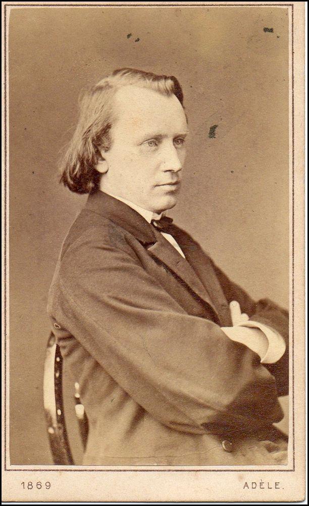 Brahms - photo taken in 1869